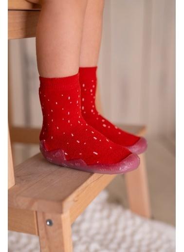 Nou Nou Çubuklu Kaydırmaz Taban Çorap Panduf Kiremit